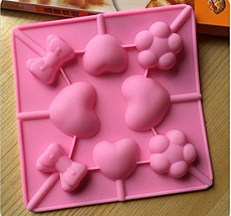 Hosaire 1X Moldes de Silicona Molde Bizcocho Estilo piruleta para Hacer Cubitos de Hielo, figurillas