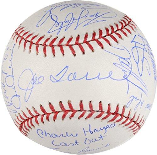 1996 New York Yankees Autographed World Series Baseball with Multiple Signatures- Steiner (Steiner Derek Jeter Signature Baseball)