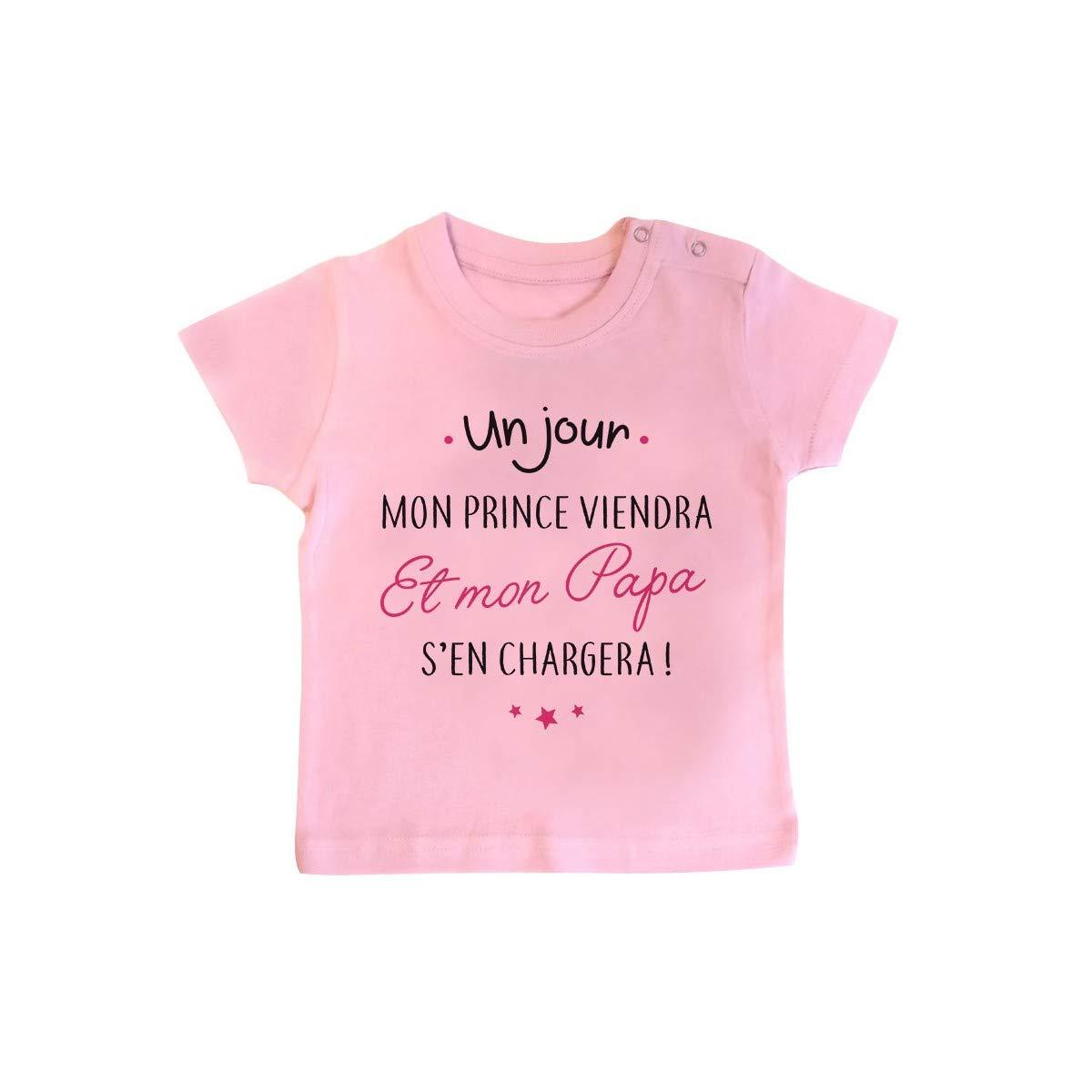 Inconnu T-Shirt b/éb/é Un Jour Mon Prince viendra