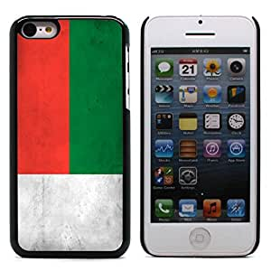 Graphic4You Vintage Malagasy Flag of Madagascar Design Hard Case Cover for Apple iPhone 5C