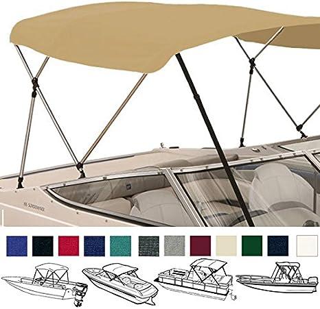 Leader Shrimp LSs 3 Bow 4 Bow Bimini Top Boat Cover Options,Frames,Canvas Tops,Adjustable Straps,Adjustable Rear Support Poles