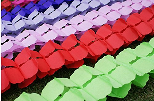 Lifeglow crafts 6pcs hanging garland four leaf clover garland tissue lifeglow crafts 6pcs hanging garland four leaf clover garland tissue paper flowers garland wedding mightylinksfo