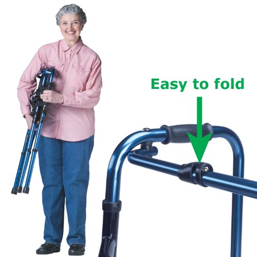 Hugo Mobility 770-260 Adjustable Folding Walker with Bonus W