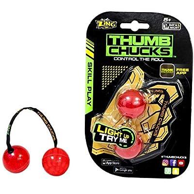Zing Thumb Chucks-Blue: Toys & Games