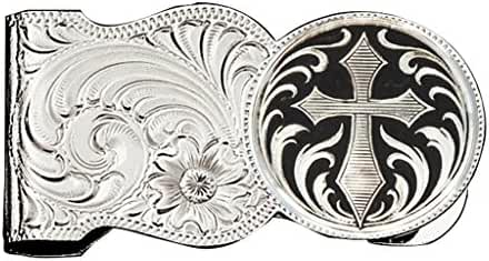 Montana Silversmiths Men's Filigree And Cross Money Clip - Mcl7-C433u