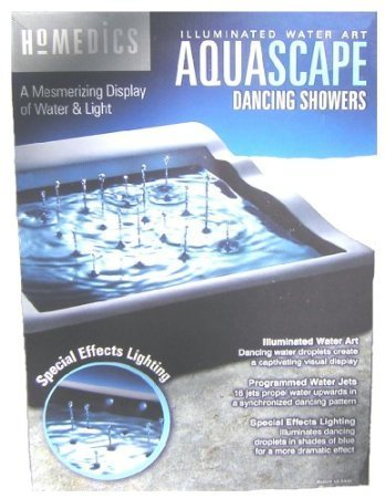 Homedics Aquascape Dancing Showers Illuminated Water Art by USA