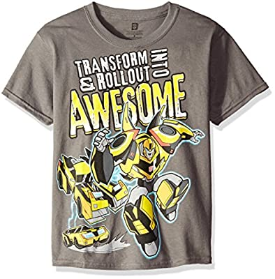 Transformers Boys' Big Boys' Bumblebee Trasform into Awesome Short Sleeve T-Shirt