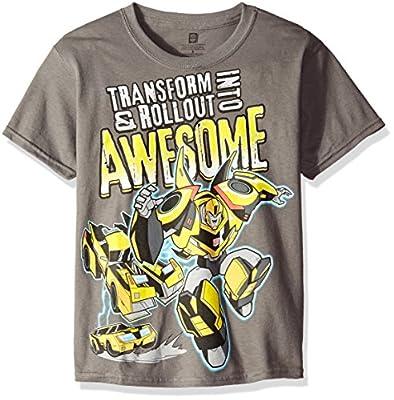 Transformers Boys' Big Boys' Bumblebee Trasform into Awesome Short Sleeve T-Shirt
