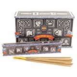 Incense Sticks & Cones Nag Champa Superhit Incense Sticks (Whole Case), Black, Box of 12 Packs