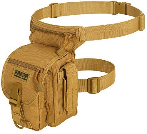 Seibertron Waterproof Tactical Outdoor Hiking Airsoft Utility Leg Bag Khaki