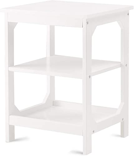 TAOHFE End Table White Nightstand