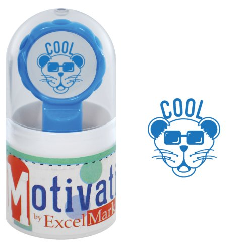 Motivations Pre-inked Teacher Stamp - Cool (Panther with Sunglasses) - Blue - Sunglasses Discount Student
