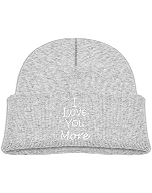 Fashion I Love You More Printed Toddlers Baby Winter Hat Beanie