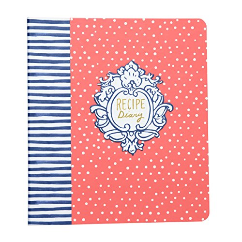 C.R. Gibson Keepsake Recipe Diary, By Molly Hatch, Binder With 12 Divider Tabs, 40 Journal & Recipe Pages, Includes 2 Pages Of Stickers, Measures 8.25
