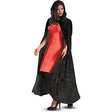 5c7a8cb751dc Amazon.com: 3811 (Black) Adult Panne Velvet Hooded Cape: Clothing