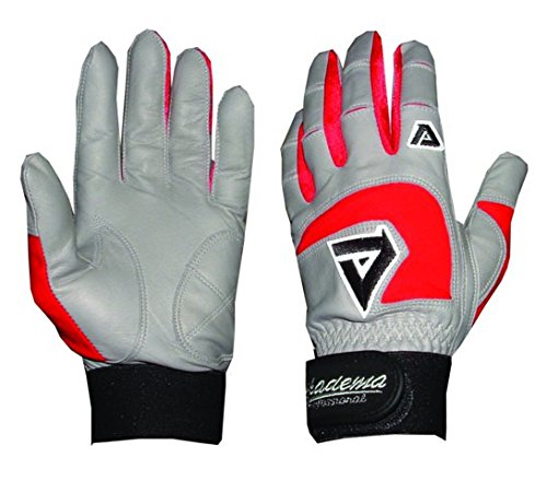 Akadema Grey/Red Professional Batting Gloves XXL by Akadema