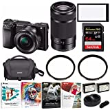 Sony a6000 Mirrorless Camera with 16-50mm and 55-210mm Lens Bundle