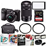 Sony a6000 Mirrorless Camera with 16-50mm and 55-210mm Lens Bundle For Sale