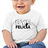 YQUE56 Bye Felicia Baby Short White Size 18 Months
