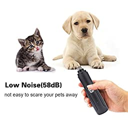 BABADIO Pet Grooming Electric Nail Grinder with Rechargeable Battery, Gentle Paws Clipper for Dogs, Cats, Hamsters, Rabbits and Birds