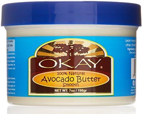 Avocado Butter Hair (Okay 100% Natural Smooth Butter, Avocado, 7 Ounce)