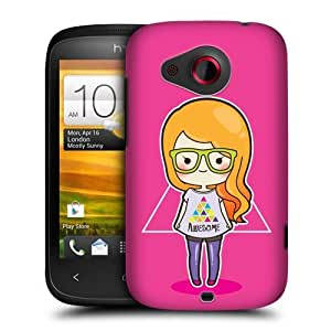 Head Case Designs Hipster Cool Girls Protective Snap-on Hard Back Case Cover for HTC Desire C