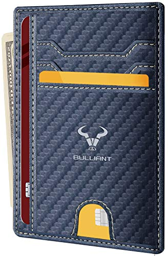 "Slim Wallet,BULLIANT Skinny Minimal Thin Front Pocket Wallet Card Holder For Men 7Cards 3.15""x4.5"",Gift-Boxed"