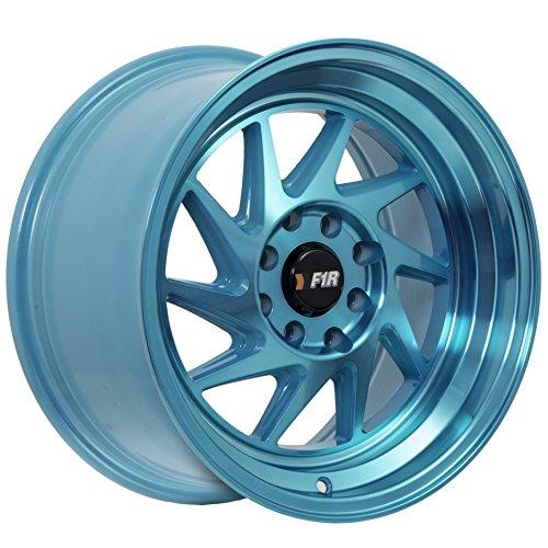 15 8 Lug Rims (15x8 F1R F07 Teal Rim Offset(25) Lug(4x100/4x114.3) Bore(67.1) 1 Wheel -- F07158T25)