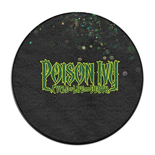 Evil Poison Ivy Costume (BOOMY Poison Ivy Letter Round Carpet For Home Decorator Dining Room Bedroom Kitchen Bathroom Balcony)