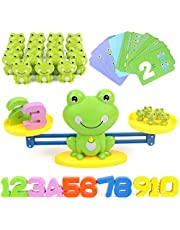 GILOBABY Frog Balance Cool Math Game , Educational STEM Toy for Boys and Girls, Counting Game Gifts for Kids Age 3+ (63-Piece Set)