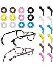 FineGood 12 par glasögonhållare, silikon anti-glid glasögon tempel spetsar sport ärmhållare för glasögon solglasögon läsglasögon