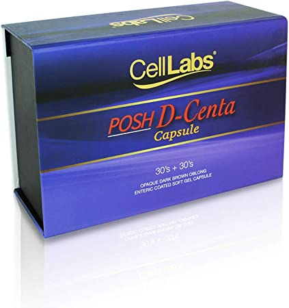CellLabs Posh D-Centa Fresh Deer Placenta 2000mg Live Stemcell Supplement   Powerful Anti-Aging Formula   Marine Collagen   Immunity Booster   Skin Vitamins   Made from New Zealand 1x Box