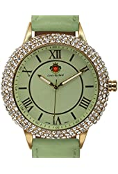 Louis Richard Women's Japanese Quartz Movement IP Metal Case and Bezel and Leather Watch(Model: 62626117)