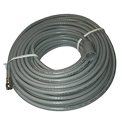 75 FT RG6 Solid Copper Coaxial Cable with Boot Outdoor with F Connector RG-