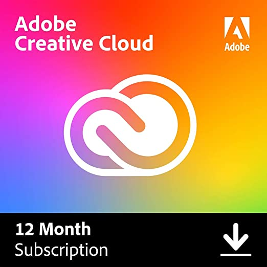Amazon Com Adobe Creative Cloud Entire Collection Of Adobe Creative Tools Plus 100gb Storage 12 Month Subscription With Auto Renewal Billed Monthly Pc Mac Software