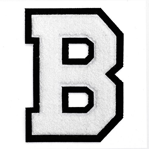 Letter B - Chenille Stitch Varsity Letter Iron-On Patch by pc, 4-1/2