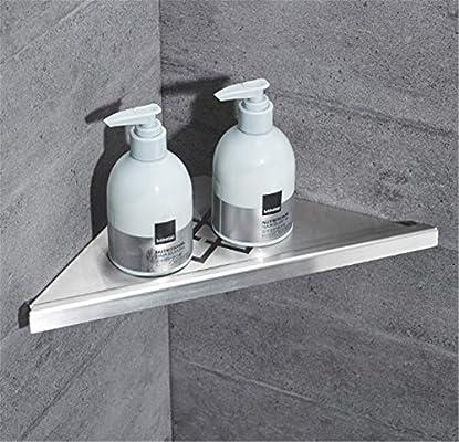 WEMUR accesorios para bañera mampara de triángulo tallado montado en la pared trípode cepillado a rayas triángulo ducha: Amazon.es: Bricolaje y herramientas