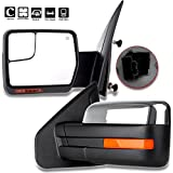 For Ford Towing Mirrors SCITOO Chrome A Pair of Rear View Mirrors for 2004-2014 Ford F-150 Truck with Mirror Glass Power Control Heated Turn Signal and Puddle Lamp Features