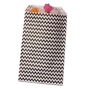 "100 Black Chevron Paper Bags 5 x 7/"" Merchandise Bags"