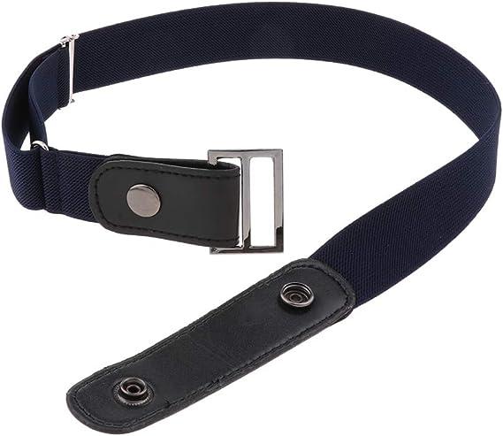 Komfortable PU-Leder Stretch-Gürtel Unsichtbarer Ledergürtel ohne Schnalle