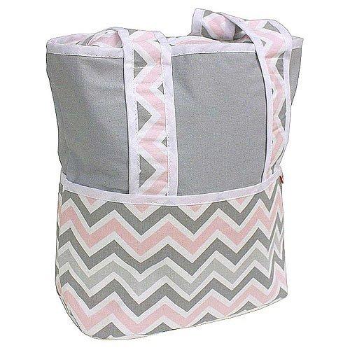 Amazon.com : Asas de la bolsa de pañales, Chevron Rosa : Baby