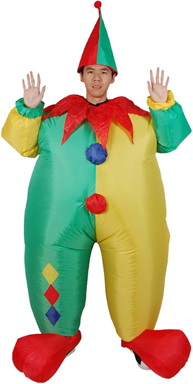 Amazon.com: guaitai divertido payaso inflable disfraz ...