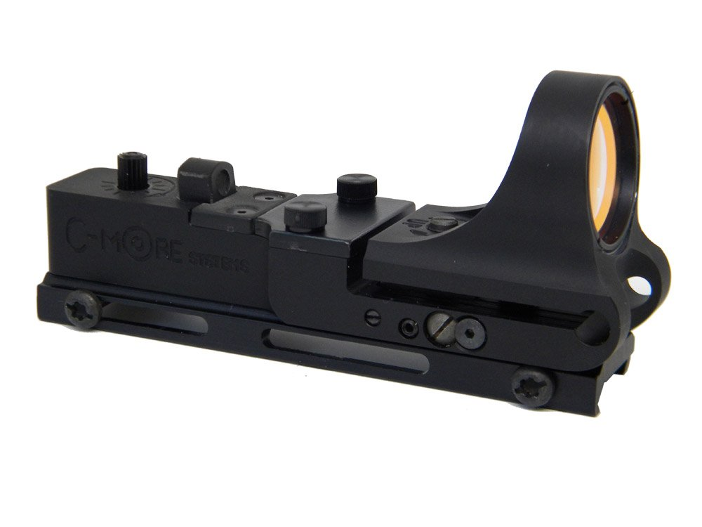 C-MORE Systems Railway Red Dot Sight with Standard Switch, Aluminum, 2 MOA by C-MORE Systems
