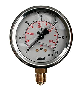 WIKA Industrial Pressure Gauge – 0 – 60 bar líquido caso