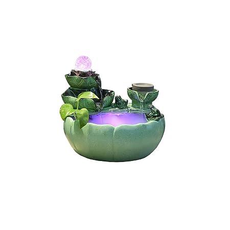 YADANER Polyresin Fuente De Interior, Fuente Decorativa 2 ...