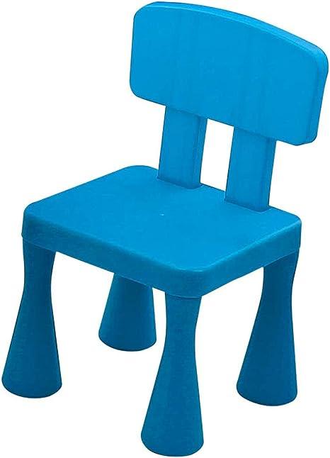 Silla De Juguete De Plástico Para Bebés Para Niños PP Sillón Antideslizante Para Niños Taburetes Pequeños Taburete Escritorio Para Jardín De Infantes, Sala De Estar, Dormitorio Blue: Amazon.es: Bebé