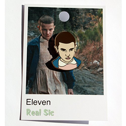Eleven Enamel Pin By Real Sic   Inspired By Stranger Things   Halloween Lapel  Pins Series   Premium Unisex Collection   VIRAL SELLOUT  POP CULTURE ...
