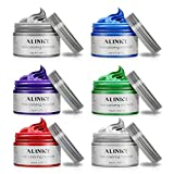 ALINICE 6 Colors Unisex Multi-Color Temporary Modeling Fashion DIY Hair Color Wax Mud Hair Dye Cream
