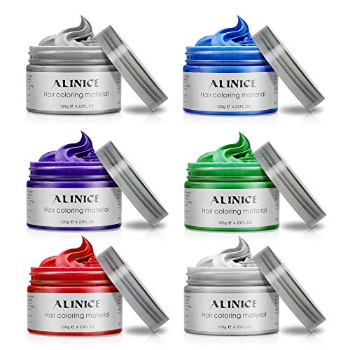 ALINICE 120g Hair Wax Men and Women Professional Hair Pomades, Long-lasting Moisturizing Modelling Hair Styling Fluffy Matte Hair Mud Gel Cream (6 color) - Hair Color Styling Gel