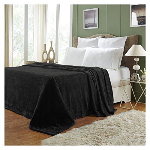 Superior Quality All-Season, Plush, Silky Soft, Fleece Blankets and Throws, Black, Throw best